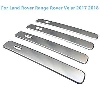 Tiras de acero inoxidable para manillar de puerta lateral, 4 piezas para accesorios de coche LRVE: Amazon.es: Coche y moto