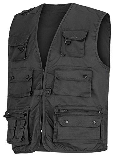 Angler- Outdoorweste mit vielen Taschen in verschiedenen Farben Schwarz XXL