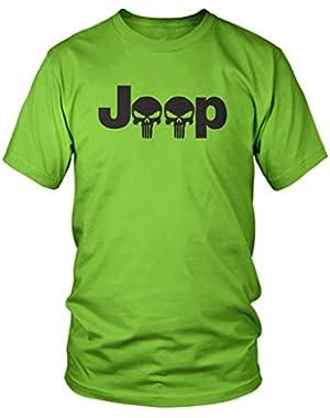 Jeep Logo With Punisher Skull Symbol Hardcore Offroad T-Shirt
