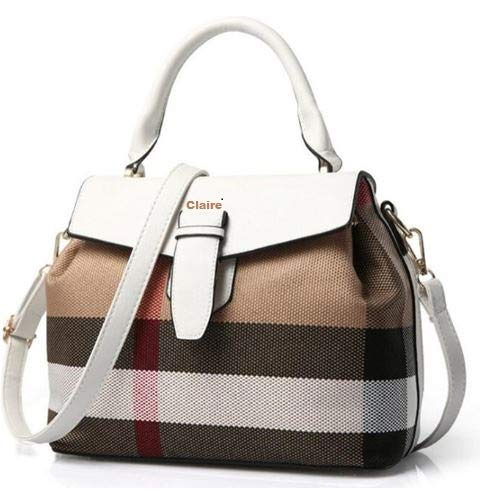 Woman Handbag On Sale Stylish Crossbody Satchel Shoulder Trendy Modern Fashionable Designer Tote leather Ladies wallets bags & purse on clearance (color WHITE, SIZE: 11L,5W, 9H in INCH)