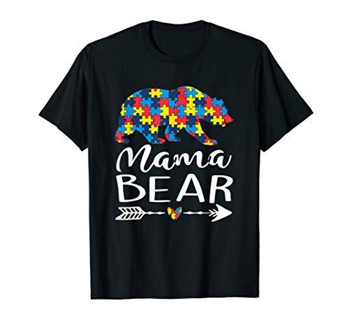 (Mama Bear Heart Arrow Cool Autism Awareness For Mom)