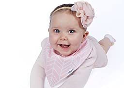 \'6-Pack\' Baby Bandana Drool Bibs for Girls, 100% Organic Cotton, Ultra Soft and Absorbent, Hypoallergenic - for Drooling and Teething Babies – Great Baby Shower Gift Set by ProMommies