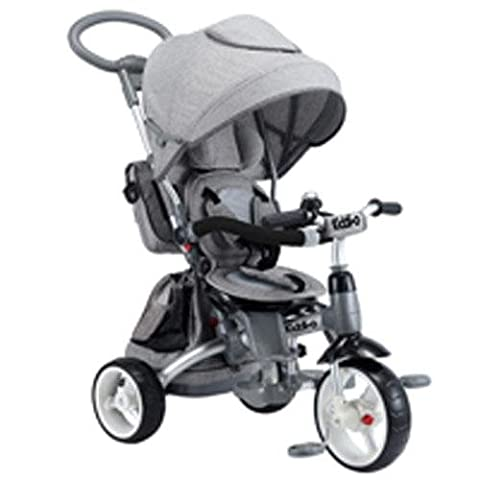 Kiddi-o by Kettler 6-in-1 Ride: Safe Stroller and Multi-Trike, Gray, Youth Ages 2.5+ - Kettler Push Bar