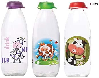 Herevin Botella Leche Decorado, 1 Litro, Surtidos, Multicolor ...