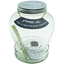 Top Shelf (TS-MJ004) Feel Good Memory Jar ; Personalized Keepsakes for Friends and Family ; Unique Gift Ideas for Birthdays and Christmas ; Kit Comes with 180 Tickets and Decorative Lid