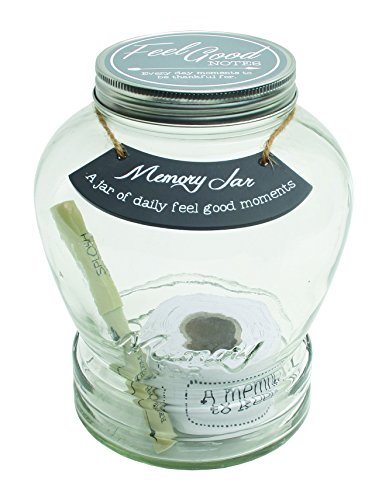 Wish Jar - Top Shelf Feel Good Memory Jar ; Personalized Keepsakes for Friends and Family ; Unique Gift Ideas for Birthdays and Christmas ; Kit Comes with 180 Tickets and Decorative Lid
