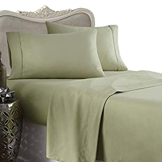 Luxurious 800 Thread Count Olympic Queen 4pc Bed Sheet Set 100% Egyptian Cotton Deep Pocket 800 TC Solid Sage (B002Z762EO) | Amazon price tracker / tracking, Amazon price history charts, Amazon price watches, Amazon price drop alerts