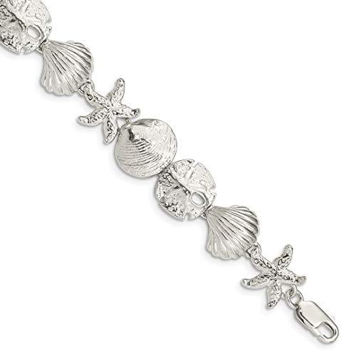 Sea Shell Mermaid Nautical Jewelrys Bracelet 7 Inch Seashore Fine Jewelry For Women Gift Set ()