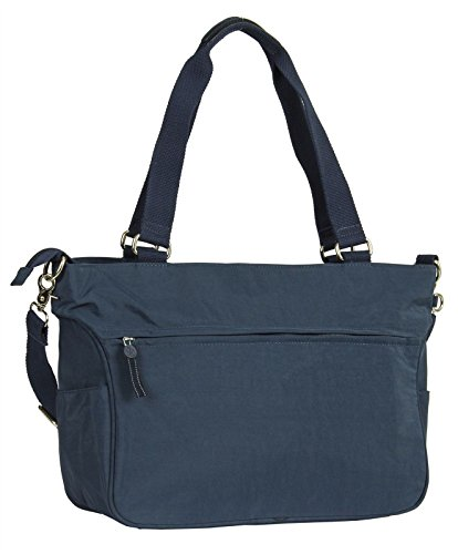Style Carry Nylon New Large Blue Shopper Tote Fabric Bag Gossip All Girl Zipped 1PBSq