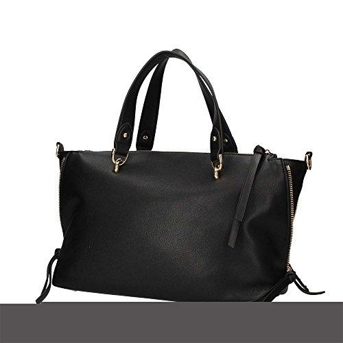 Liu Jo M Satchel Dakota - Bolsos maletín Mujer Negro (Nero)
