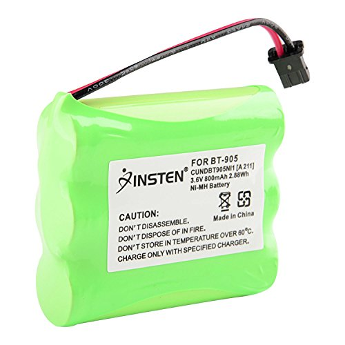 INSTEN Cordless Phone Battery Compatible Ni-MH Replacement Battery for Uniden - Amp Ghz 5.8 Cordless