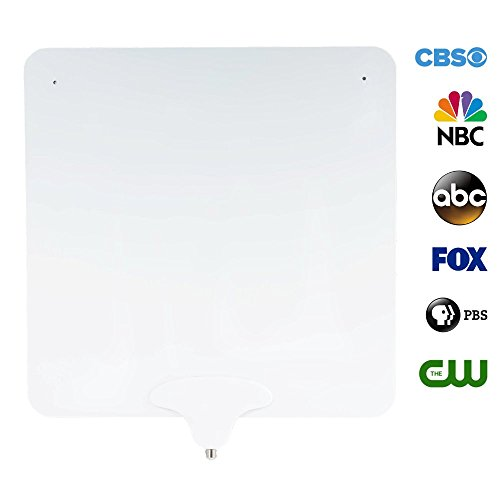 Price comparison product image NoCable 30 - Indoor TV Antenna by NoCable / 30-mile Range,  10ft Detachable Cable + Free TV for Life + Reversible,  Ultra Flat,  Digital High Definition HD TV Antenna. Easy Install