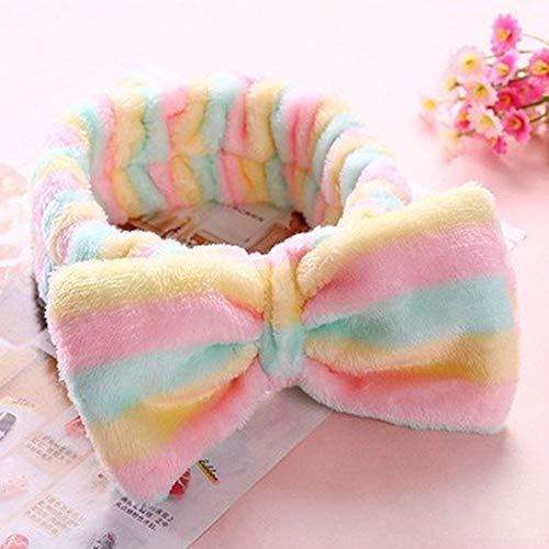 Spa Bath Shower Make Up Wash Face Cosmetic Headband Hair Band Velvet Headband Pink]()