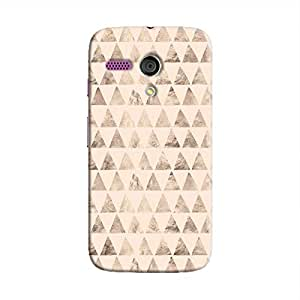 Cover It Up - Brown Pastel Triangle Tile Moto G Hard Case