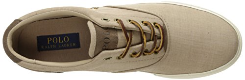 Polo Ralph Lauren Men's Vaughn Lace-Up Sneaker Dark Tan low shipping for sale cheap sale perfect wholesale price cheap price Oxi91bVv57