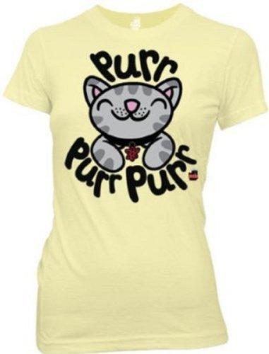 Big Bang Theory Soft Kitty Junior Purr Purr T-Shirt Tee (2XL, Banana)