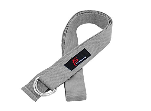 Prosource Yoga Strap With Metal D Ring Grey