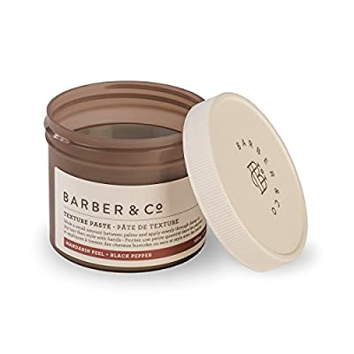 Barber & Co, All Natural, Handmade Texture Paste. Hair Texture Pastes. Styling for Men, Firm Reworkable Hold with Matte Finish, Mandarin Peel + Black Pepper