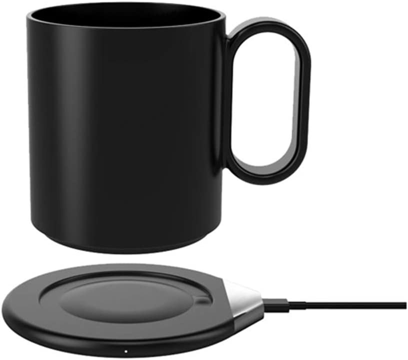 USB Mug Warmer with Wireless Charger 2 in 1, Coffee Mug Warmer for Office Home, Beverage Mug Constant Temperature Coffee Cup Warmer for Desk