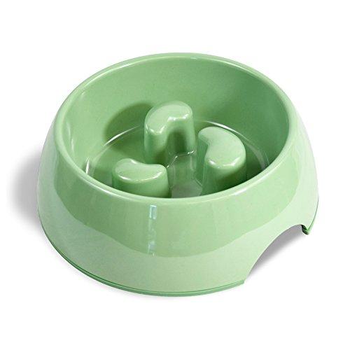 Martha Stewart Slow Feeder Pet Bowl, Green, 5.75 fl. oz.