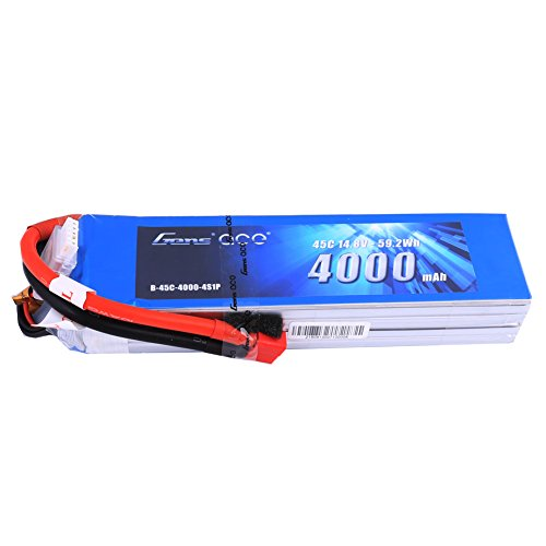 Gens ace 14.8V 4000mAh 4S 45C LiPo Battery Pack Deans Plug for RC 50E 110E EDF F16 Habu Funjet CineTank Mk2 Tankito30 Multirotors Hexacopter Octacopters