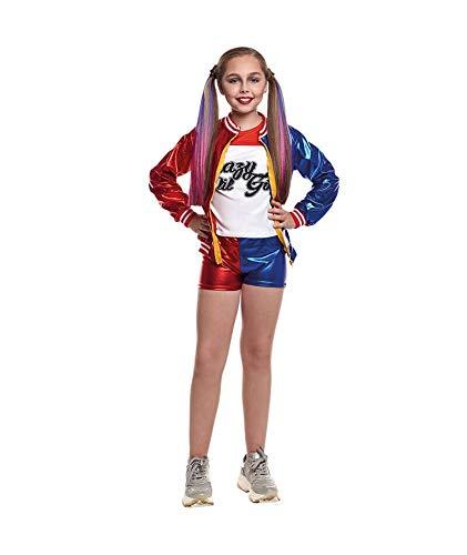 Disfraz Harley Quinn Jokers Baby niña Infantil para Carnaval Halloween