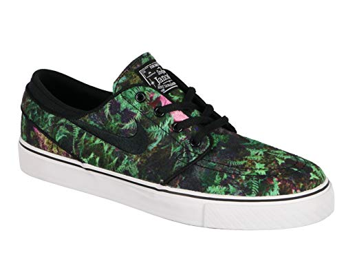 Nike SB Kid's Stefan Janoski Premium Canvas Skateboarding Shoes 4Y Green Black