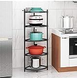 5-Tier Kitchen Pot Rack, Cookware Stand Storage