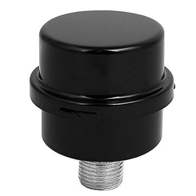 DAVV High Pressure Air Compressor Filter Metal Shell Intake Silencer Pump Gas Filtration System (Male-1/4 inch PT)