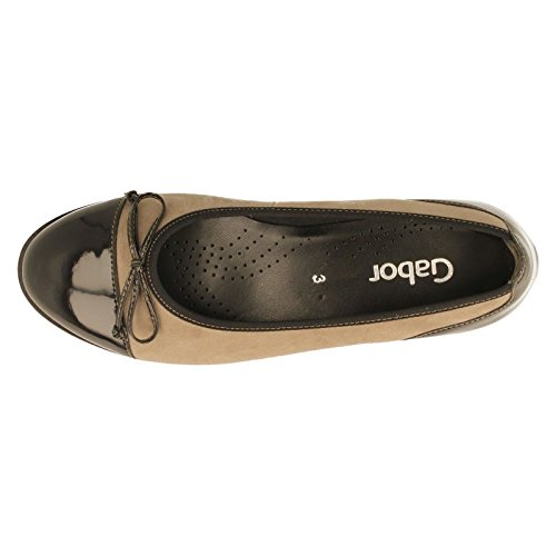 Gabor para mujer zapatos de 53.100.12tentación Pebble/negro Pebble/Black