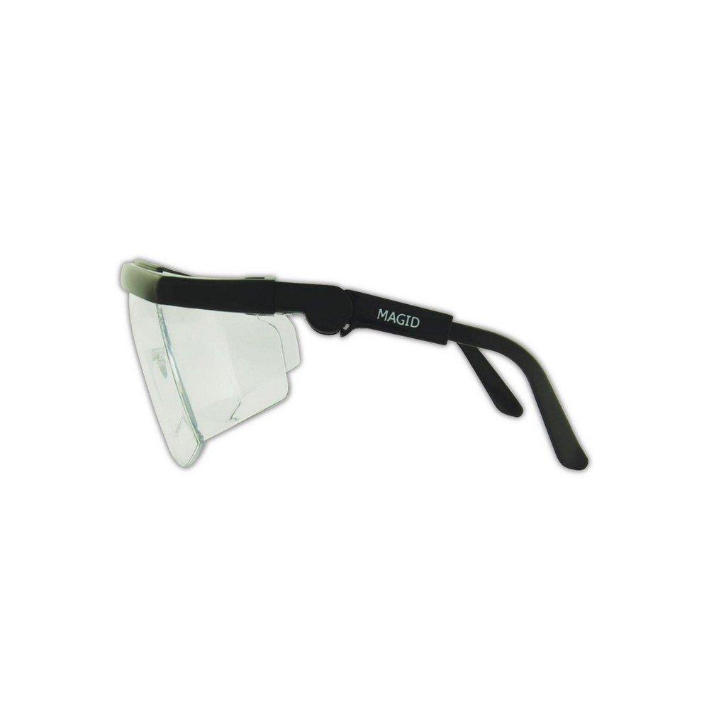 Magid Glove & Safety Y31BKAFC-AMZN Gemstone Sapphire Y31 Protective Eyewear, Polycarbonate, Standard, Black