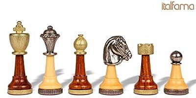 Classic Persian Staunton Metal & Wood Chess Set