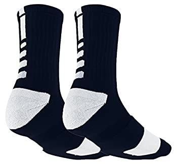 Moisture Wicking Sweat Absorbing Compression Support Basketball Socks (Black & Grey)