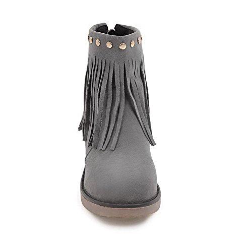 Inconnu 1TO9 Mns02506, Sandales Compensées Femme Gris