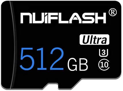 Micro SD Card 512GB TF Card,Memory Card 512GB High Speed Class 10 Memory Card with Adapter for Nintendo-Switch Android Smartphones,Tablets and Others