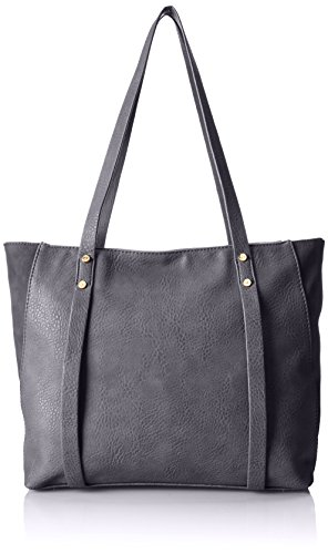 Co-Lab by Christopher Kon Norie Two Tone Shoulder Bag,Grey,One Size