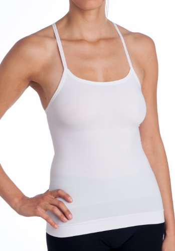 5c74329d12 Body Beautiful Womens Racerback Layering Camisole White Medium - Buy ...