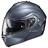 HJC IS-Max II Anthracite Modular Helmet with Hawk X2 Black Bluetooth Headset Bu - Small with X2 Bluetooth