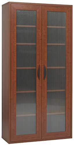 Safco Products 9443CY Apres Modular Storage Tall Cabinet, 2 Door, Cherry (2 Door Tall Cabinet)
