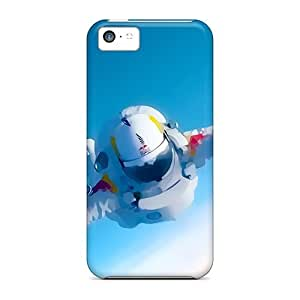 Hot Tpu Cover Case For Iphone/ 5c Case Cover Skin - Space Man Felix Baumgartner
