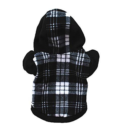 RSHSJCZZY Pet Lattice Hoodie Sweatshirt Dog Clothes Fleece Cold Weather Coat