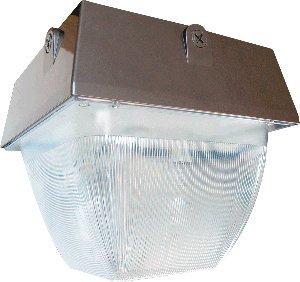 RAB Lighting VAN5SH100QT Vandalproof Van5 Metal Halide/High Pressure Sodium Lamp, ED17 Type, Aluminum, 100W Power, 9500 Lumens, 277V, Bronze Color