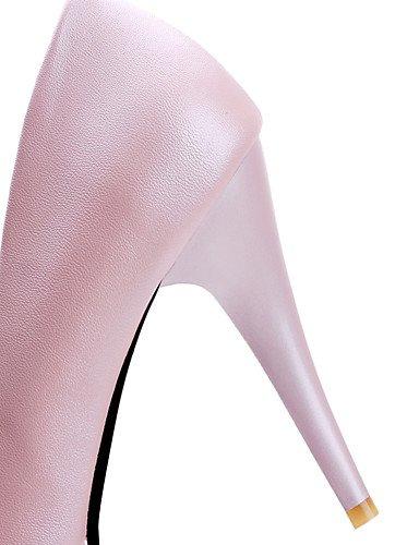 ¨ 5 tacones rosa Bianco azul mujer ® tac tacones n eu42 5 pu Rosa Blu di redonda uk8 EU41 Scarpe cn43 US9 ZQ 10 us10 Lavoro 8 CN44 stiletto casual 5 Punta 5 UK7 oficina awUfIH