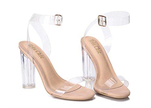 SELL YCMDM donne Lucidi sandali caldo classico tacco alto 39 36 35 38 37 40 41 , apricot , 42