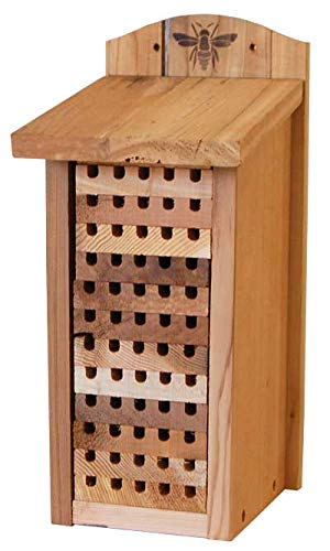 Woodlink 28551 Heavy Duty Cedar Mason Bee, Large Insect House, 14'' H Wood