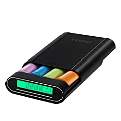 3-in-1 Power Bank ,Battery Charger and Battery Box A Tool must have In Our Daily Life You can use it as a Power Bank ,Battery Charger and Battery Box.  Tomo Battery charger, the whole body with fireproof material, the surface of frosted, beau...