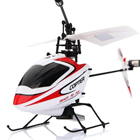 WLtoys V911 2.4GHz 4CH Remote Control RC Helicopter with Gyro Mode 2 (Red White) (Remote Control Viking)