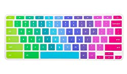 Colorful Keyboard Cover For Acer Chromebook R 11 Cb5-132t Cb3-131, Acer Chromebook R 13 Cb5-312t, Acer Chromebook 14 Cb3-431 Cp5-471, Acer Chromebook 15 Cb3-531 Cb5-571 C910, Rainbow