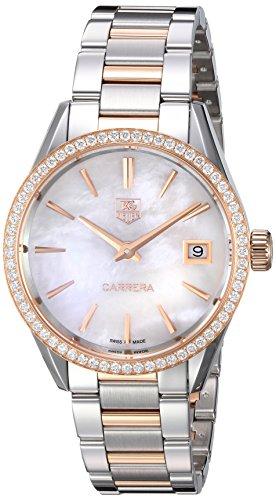 TAG-Heuer-Womens-Carrera-Swiss-Quartz-Stainless-Steel-and-Gold-Dress-Watch-Model-WAR1353BD0779