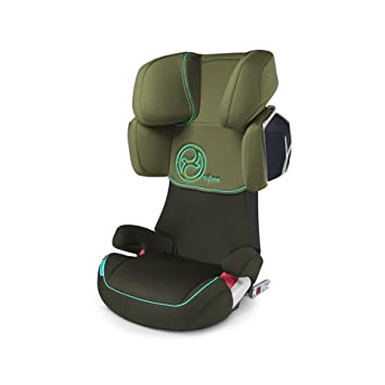 Delicieux Cybex Solution X2 FIX 2013 Car Seat Group 2 And 3 Graffiti Green ISOFIX